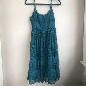 BB Dakota Women's Small Lace Emerald Green Dress